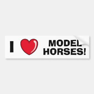 私はモデル馬を愛します バンパーステッカー