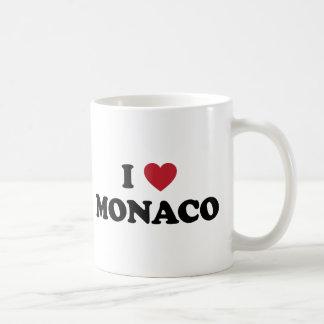 私はモナコを愛します コーヒーマグカップ