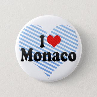 私はモナコを愛します 5.7CM 丸型バッジ