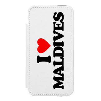 私はモルディブを愛します iPhone SE/5/5sウォレットケース