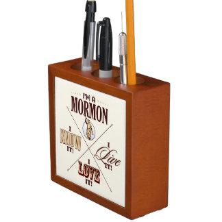 私はモルモン教徒です。 私は知っていますそれを… 机のオルガナイザー ペンスタンド