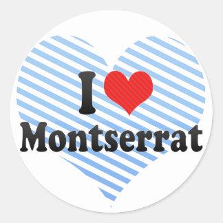 私はモンセラートを愛します 丸型シール