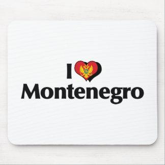 私はモンテネグロの旗を愛します マウスパッド