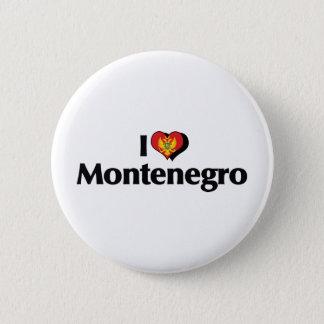 私はモンテネグロの旗を愛します 缶バッジ