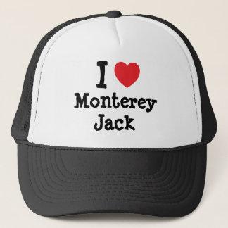 私はモンテレージャックのハートのTシャツを愛します キャップ