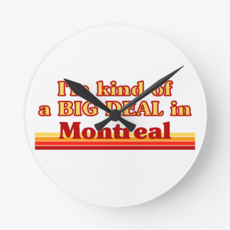 私はモントリオールのちょっと大事です ラウンド壁時計