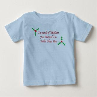 私はヤドリギからちょうどふりをします私のより高いです成っています ベビーTシャツ