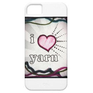私はヤーンの電話箱カバーを愛します iPhone 5 Case-Mate ケース