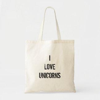 私はユニコーンのバッグを愛します トートバッグ