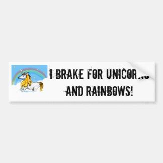 私はユニコーンのバンパーステッカーのために壊れます バンパーステッカー