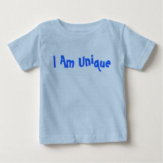 私はユニークなおもしろいのフォントのワイシャツです ベビーTシャツ