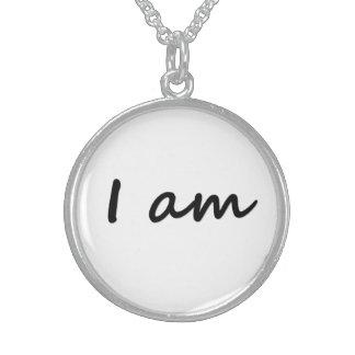 私はユニークな純銀製の円形のネックレスです スターリングシルバーネックレス