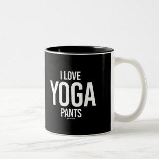 私はヨガのズボン-ヨガの   フィットネス-を.png愛します ツートーンマグカップ
