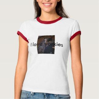 私はヨークシャーテリアを愛します Tシャツ