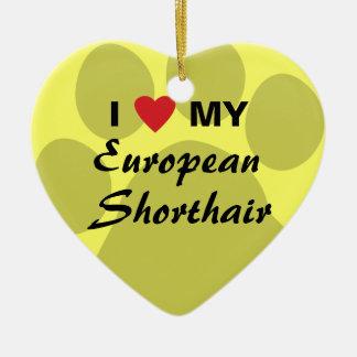 私はヨーロッパ人のShorthair私のPawprintのデザインを愛します セラミックオーナメント