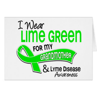 私はライムグリーン42の祖母のライム病を身に着けています カード