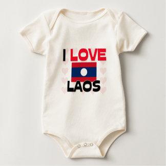 私はラオスを愛します ベビーボディスーツ