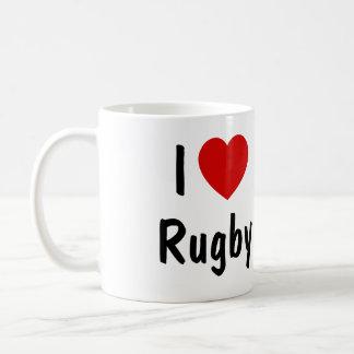 私はラグビーを愛します コーヒーマグカップ