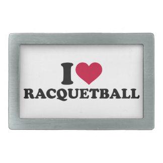 私はラケットボールを愛します 長方形ベルトバックル