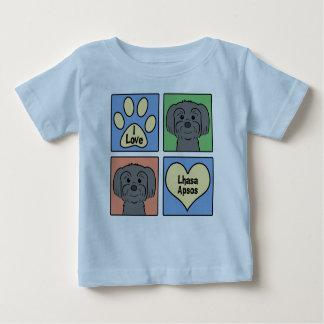 私はラサApsosを愛します ベビーTシャツ