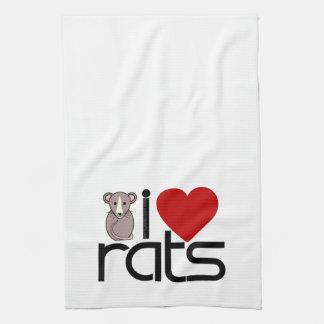 私はラットを愛します キッチンタオル
