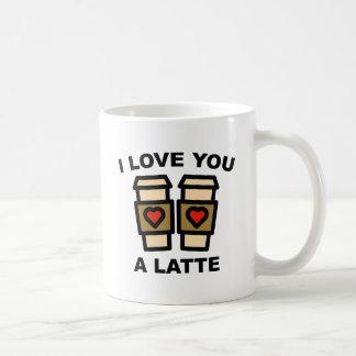 私はラテ愛します コーヒーマグカップ