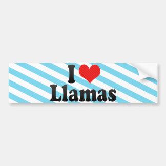 私はラマを愛します バンパーステッカー