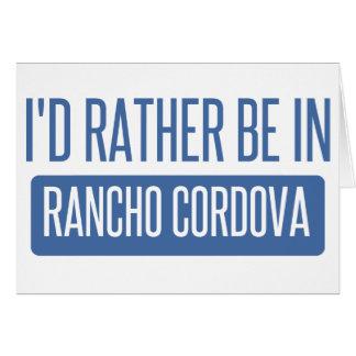 私はランチョCordovaにむしろいます カード
