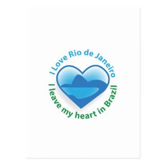 私はリオデジャネイロを愛します-私はブラジルの私のハートを残します ポストカード