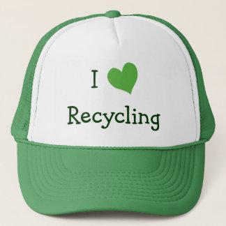私はリサイクルすることを愛します キャップ