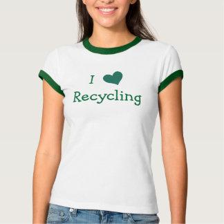 私はリサイクルすることを愛します Tシャツ