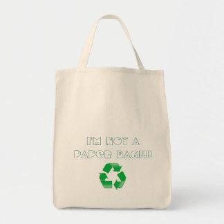 私はリサイクルする紙袋ではないです トートバッグ