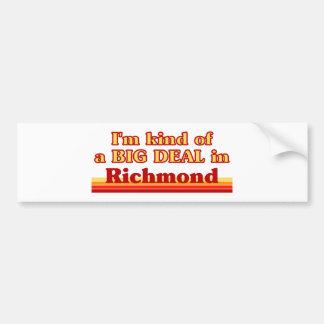 私はリッチモンドのちょっと大事です バンパーステッカー