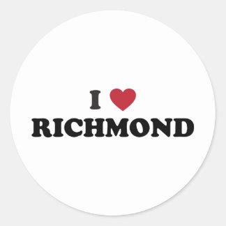 私はリッチモンドヴァージニアを愛します ラウンドシール