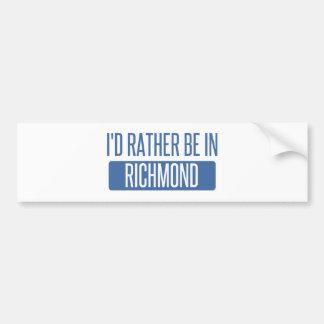 私はリッチモンドVAにむしろいます バンパーステッカー