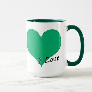 私はリビアを愛します マグカップ