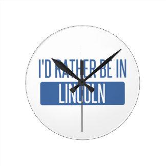 私はリンカーンNEにむしろあります ラウンド壁時計