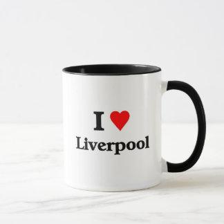 私はリヴァプールを愛します マグカップ