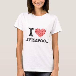 私はリヴァプールを愛します Tシャツ