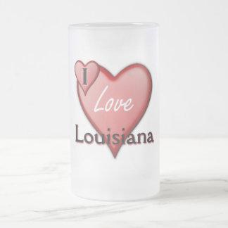 私はルイジアナを愛します フロストグラスビールジョッキ