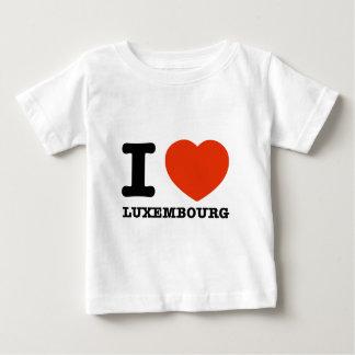 私はルクセンブルクを愛します ベビーTシャツ