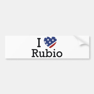 私はルビオを愛します バンパーステッカー