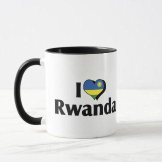 私はルワンダの旗を愛します マグカップ