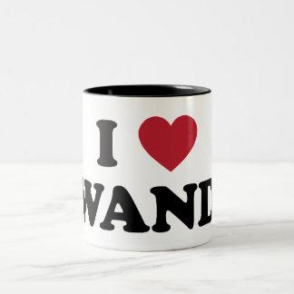 私はルワンダを愛します ツートーンマグカップ