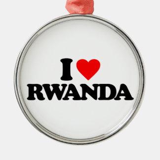 私はルワンダを愛します メタルオーナメント