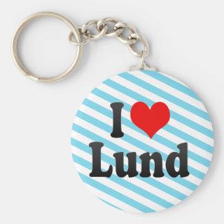 私はルンド、スウェーデンを愛します。 ぎざぎざAlskarルンド、スウェーデン キーホルダー