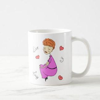 私はルーシーを愛します コーヒーマグカップ