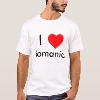私はルーマニアのワイシャツを愛します Tシャツ