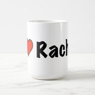 私はレイチェルを愛します コーヒーマグカップ