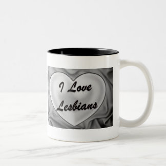 私はレズビアンを愛します ツートーンマグカップ